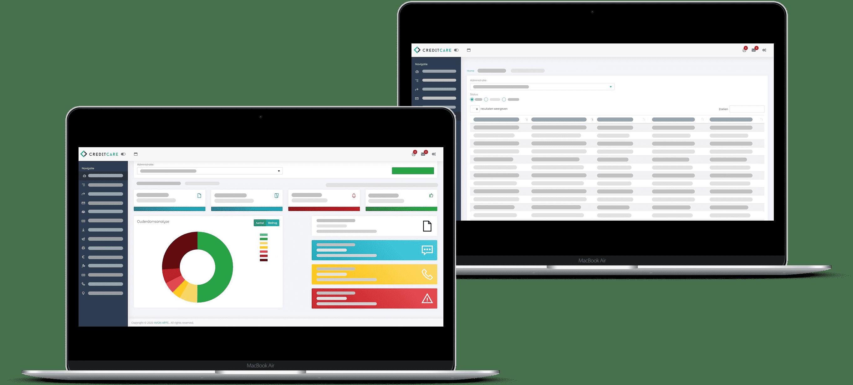 Debiteurenbeheer software van Credit Care | Online portaal opdrachtgever